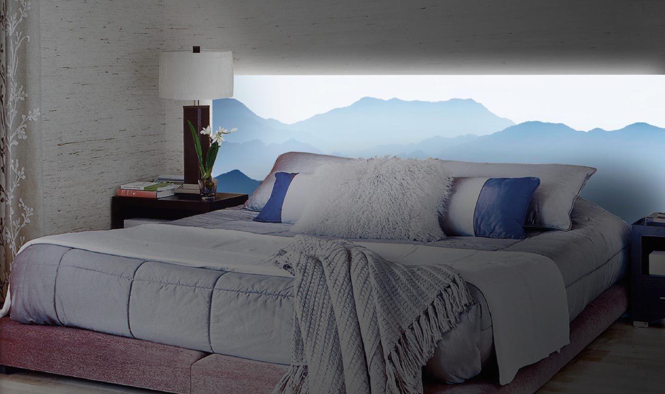 50 ideas de cabeceros con luz retroiluminados luz cama bed cabecero ideas para el hogar - Ideas de cabeceros ...