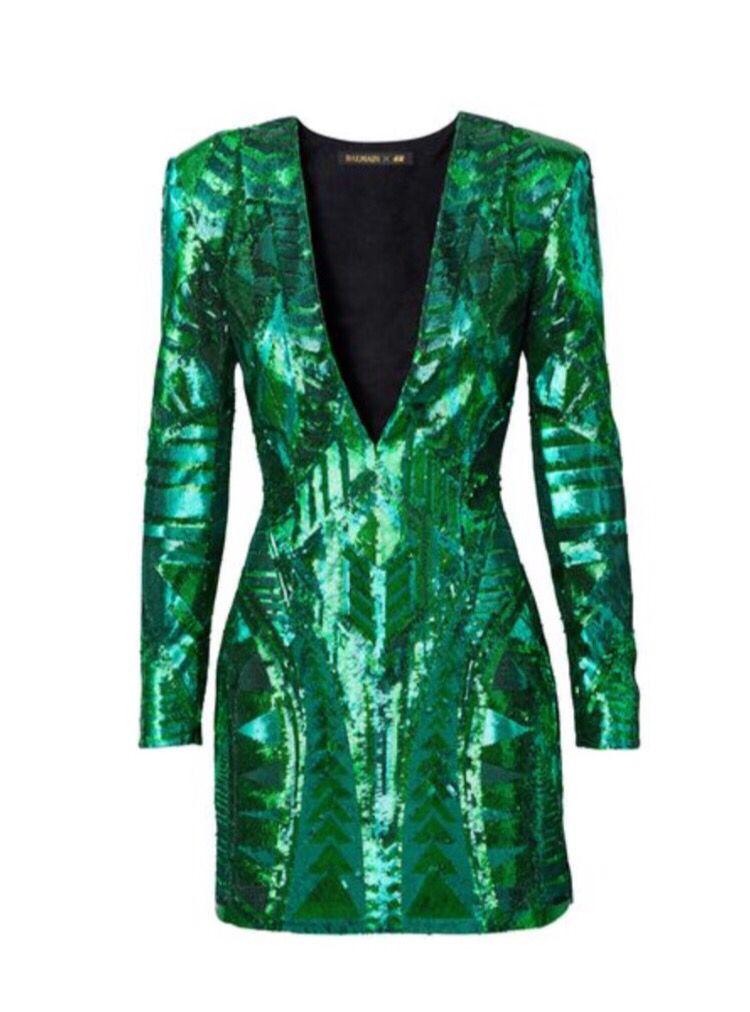 Dress - Balmain x H&M