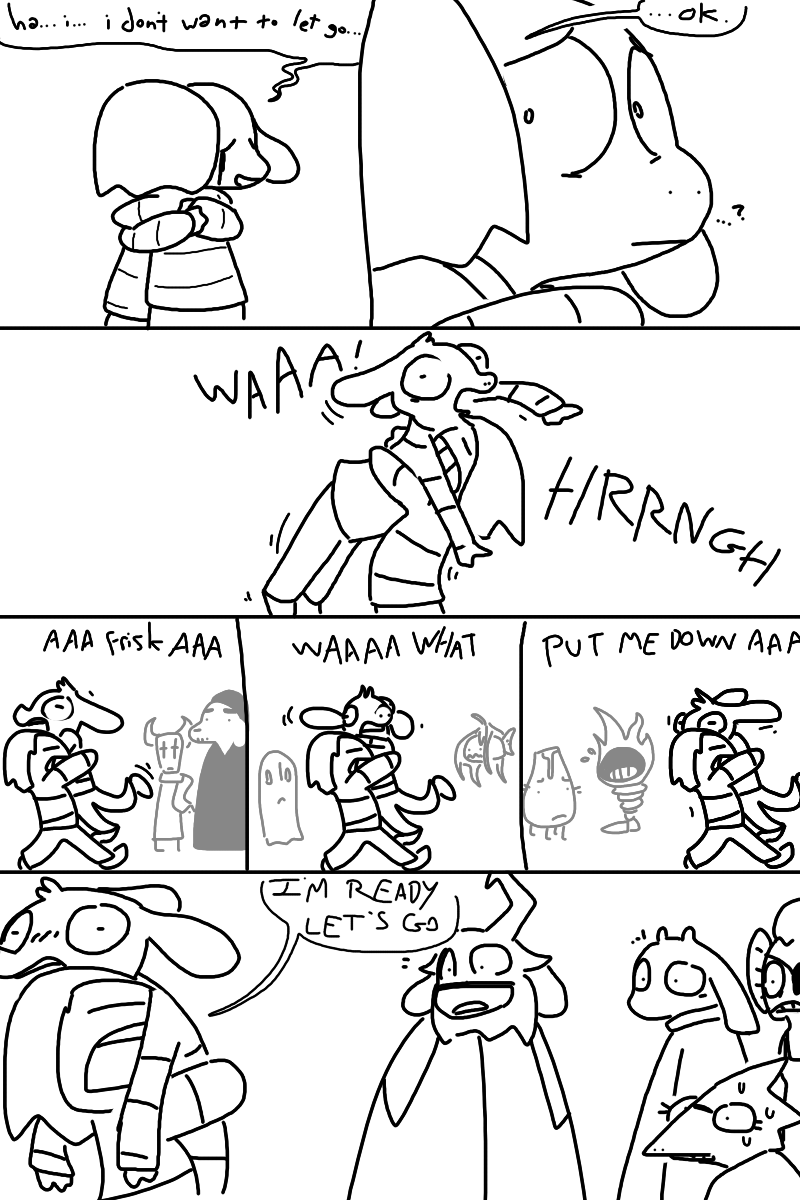 Asriel and frisk comics - Google Search