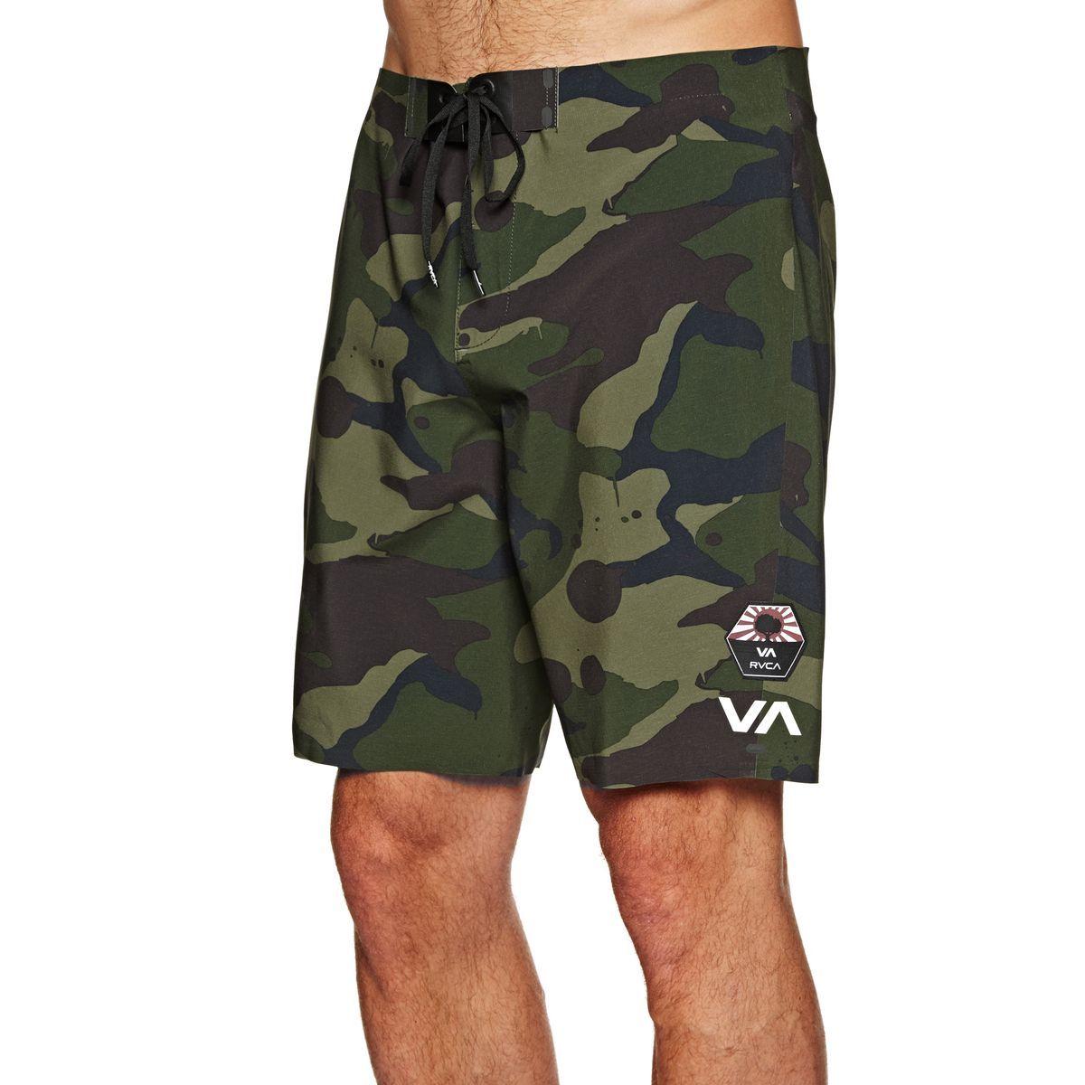 Buy RVCA Bruce Warp Pro Trunk Board Shorts Camo with great