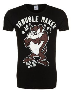 new style 2673e ab1e4 LOONEY TUNES TROUBLE MAKER - T-shirt print - black @ Zalando ...