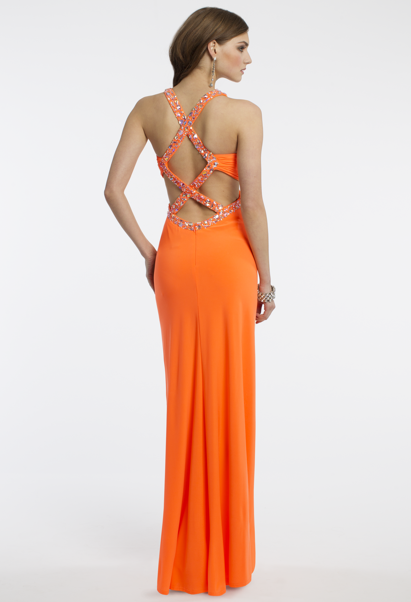 Camille La Vie Jersey Prom Dress with Beading in Orange | PROM ...
