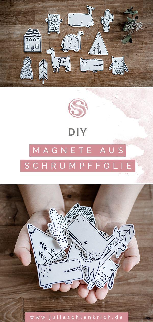 DIY: Süße Magnete aus Schrumpffolie für deine Lieblingsfotos