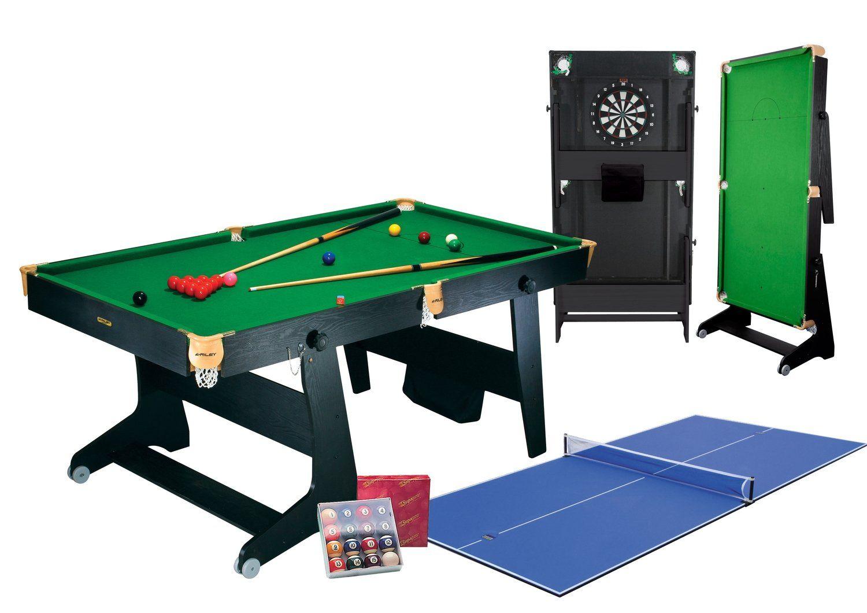 - Riley 6Ft Folding Snooker Table - Pool Balls, Dartboard Table