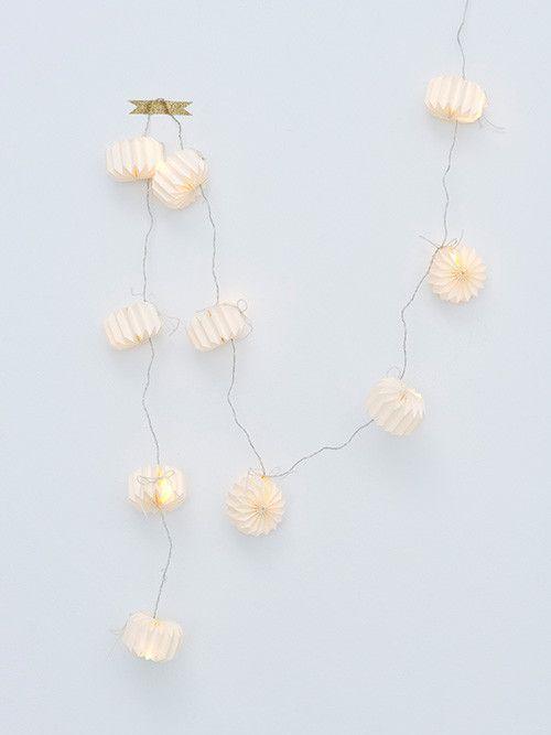 Origami paper lantern lights