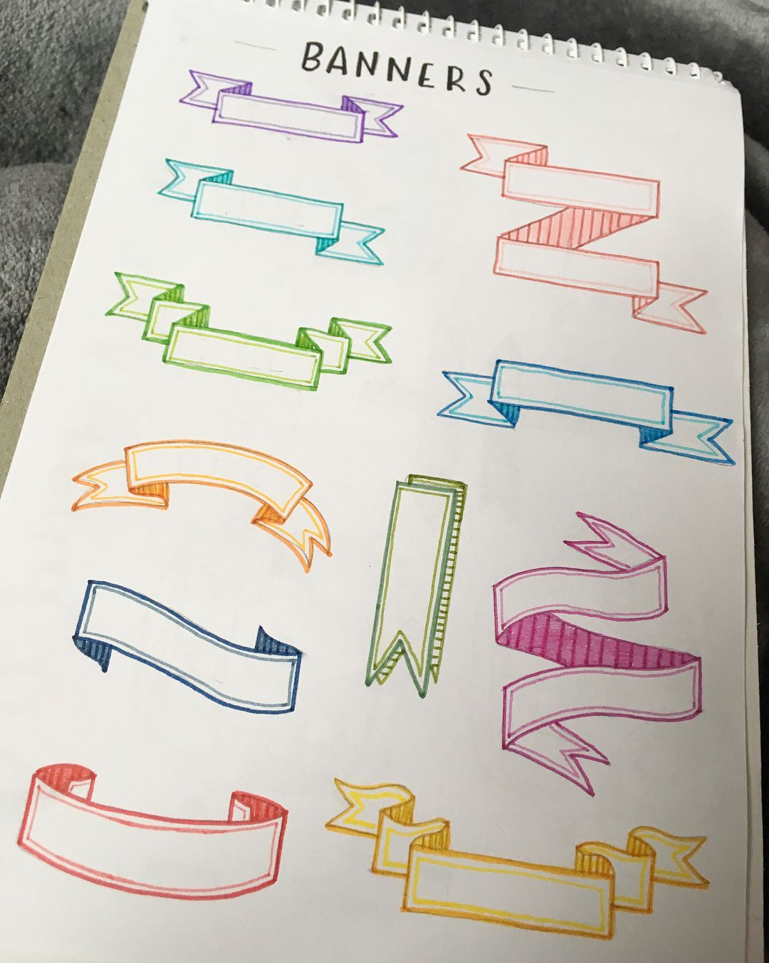 image titled decorate. My Bullet Journal On Instagram: \u201cbanners Are A Great Way To Make Your Titles Look Super Cute. You Can Design, Decorate And Colour Them Suit Theme. Image Titled R