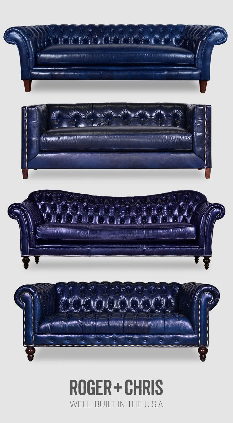 Blue Leather Sofas Blue Leather Chesterfields Blue Leather Couches Blue Leather Furniture From Roger And C Blue Leather Couch Blue Leather Sofa Leather Sofa