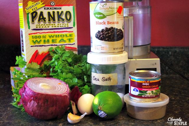 black bean burger recipe ingredients