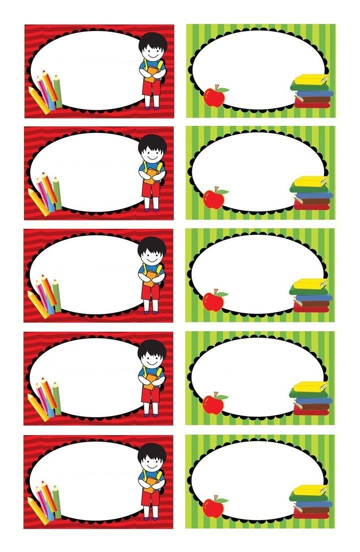 Turbo Etiquettes pour classeurs, livres et cahiers d'école à imprimer  VF54
