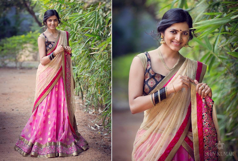 Latest Designer Half Saree By Bhargavi Kunam