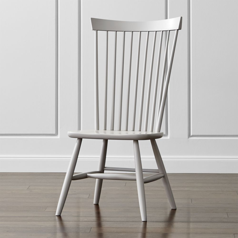 Marlow II Dove Wood Dining Chair - Crate and Barrel | Marlow, Dining ...
