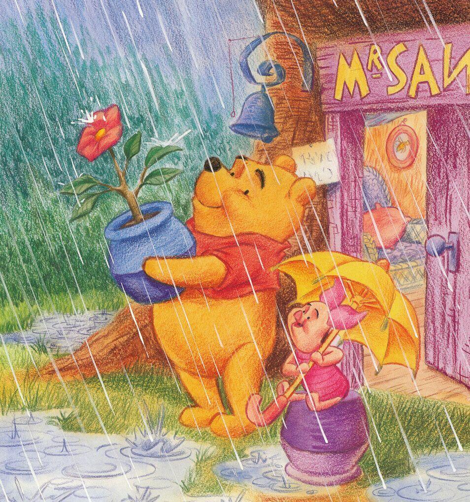Картинки пятачок дождь