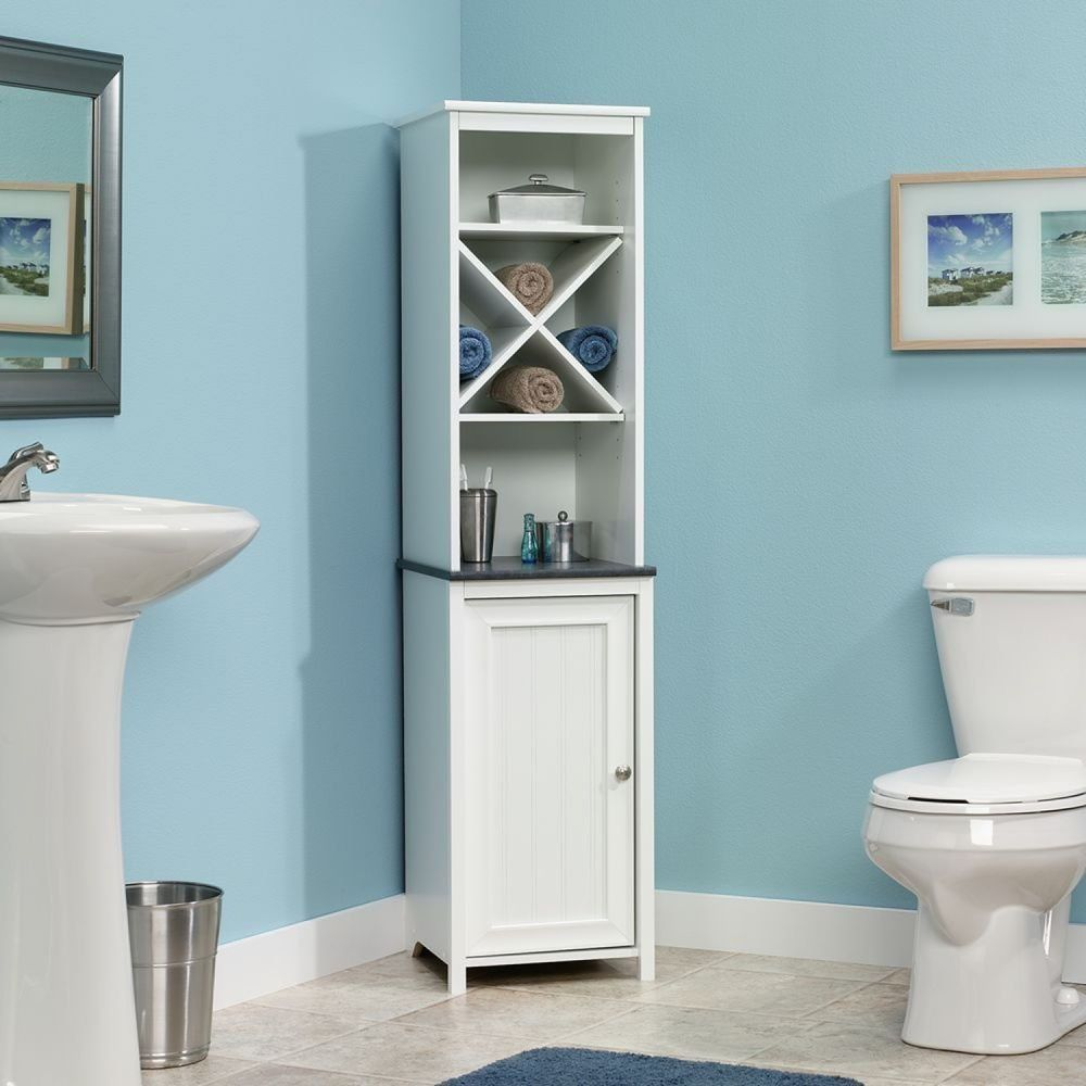 Linen Tower Bath Wall Medicine Cabinet Towel Organizer Storage ...