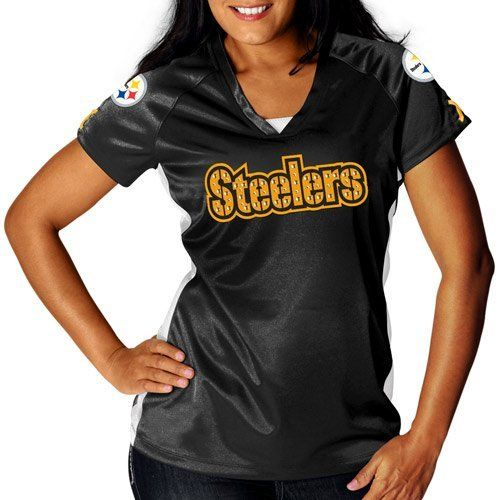 f2c797ec NFL Womens Pittsburgh Steelers Draft Me V Black/White/Yellow Gold ...