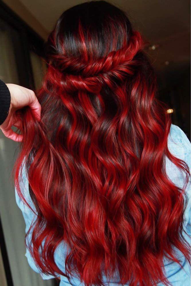 Photo of Bevorzugt die Perücke der brasilianischen Remy Hair Body Wave nahtlose rosa Ombre Perücke mit rotem Babyhaar