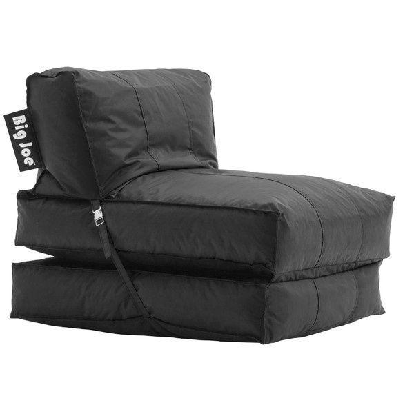 Flip Bean Bag Chair Lounger Limo Black Big Joe Cozy Comfort Home Office  Dorms #BigJoe