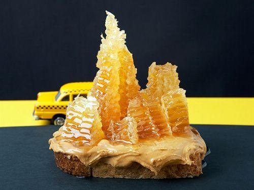 Peanut Butter and Honeycomb by eyecandey    #foodart #peanutbutter #honeycomb