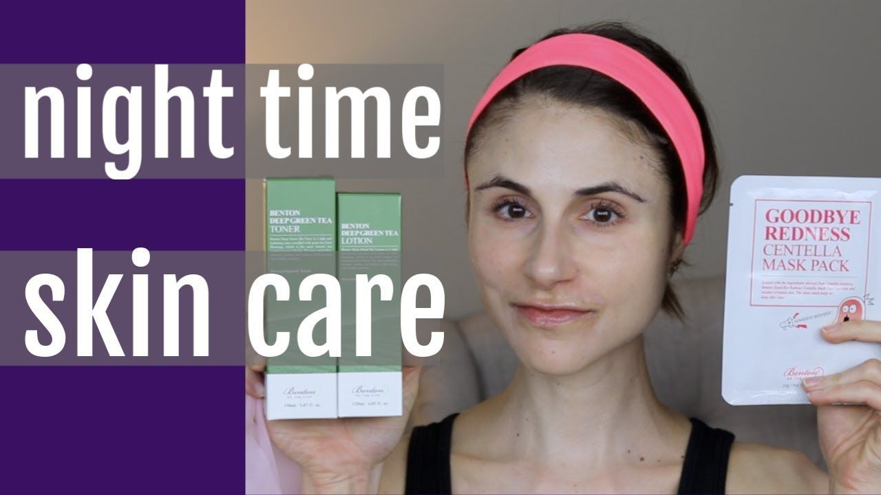 Night Time Skin Care Beauty Routine Oily Combination Skin