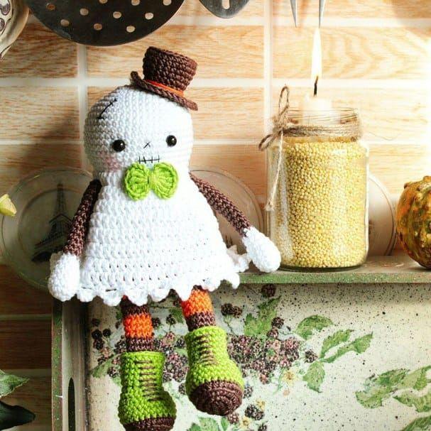 Patrón de amigurumi de ganchillo fantasma de Halloween | tejidos ...