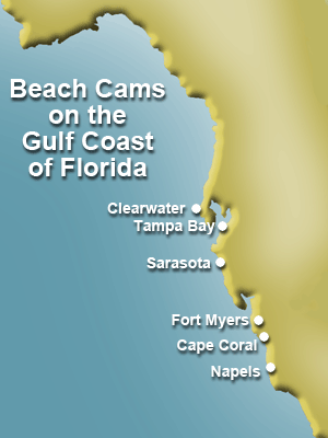Florida Gulf Coast Beaches Map.Beach Cam Map Of The Gulf Coast Of Florida I Love The Florida Gulf