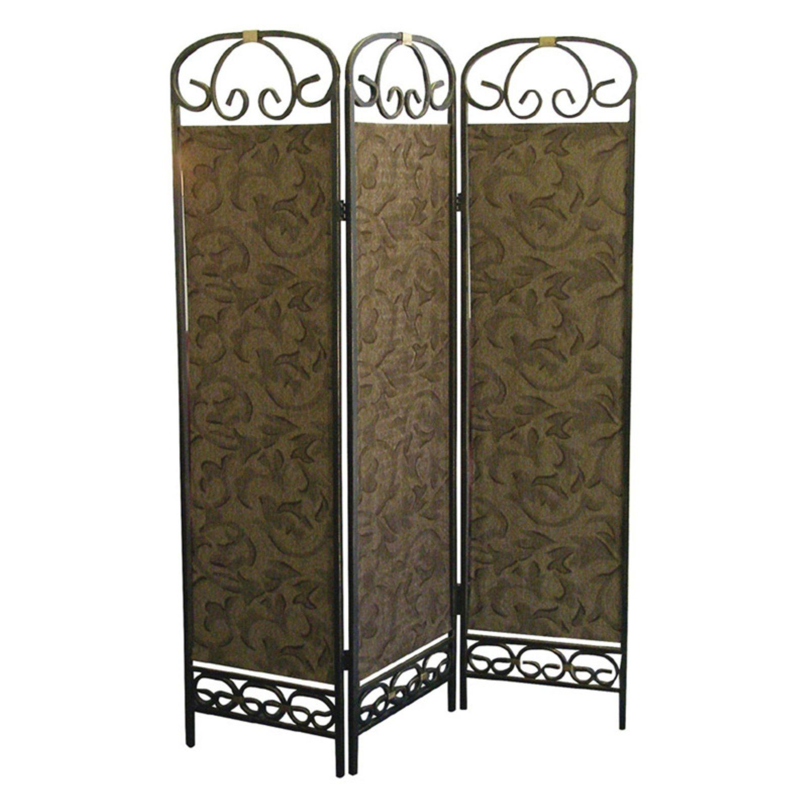 Room Dividers Home Depot Antique Gold 3 Panel Room Divider In 2019 Products Pinterest