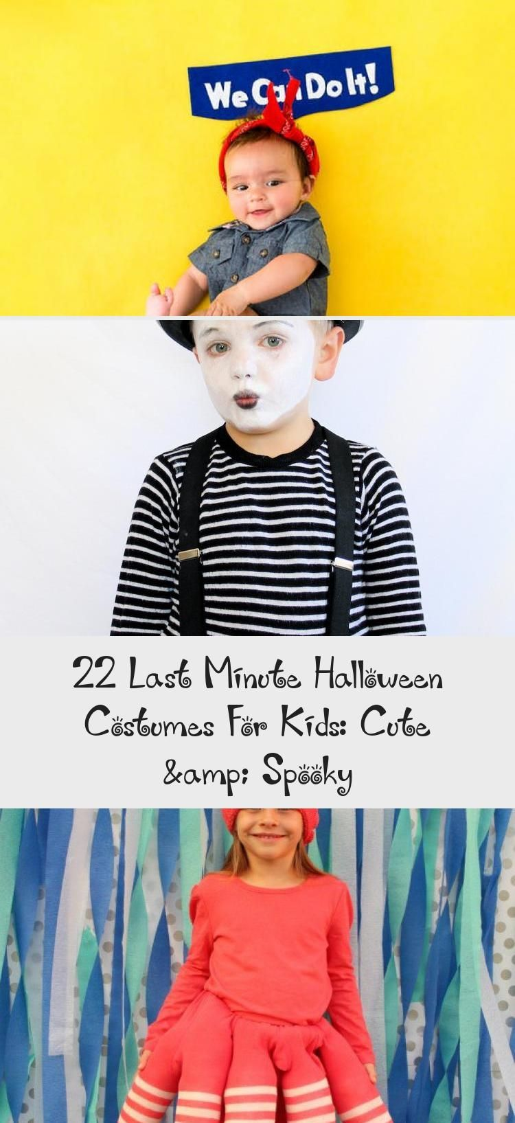 22 Last Minute Halloween Costumes For Kids: Cute & Spooky - OUTFIT #spookyoutfits