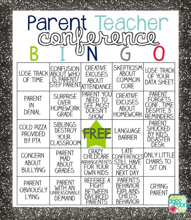 Parent Teacher Conference Bingo Teacher conferences, Parents and - parent teacher conference form
