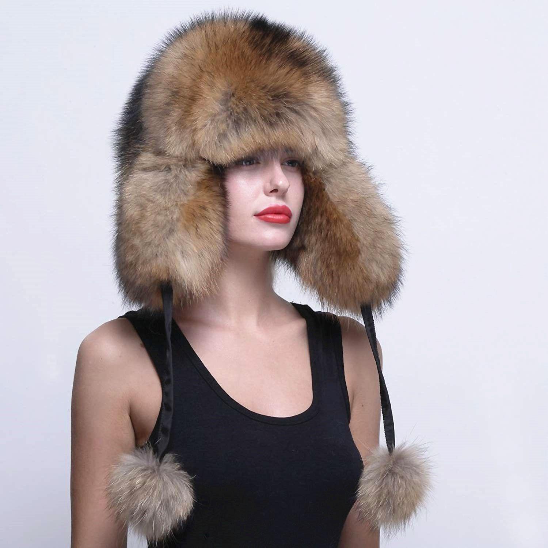 80f56e5e8960f Raccoon Fur Russian Trapper Hat in 2019