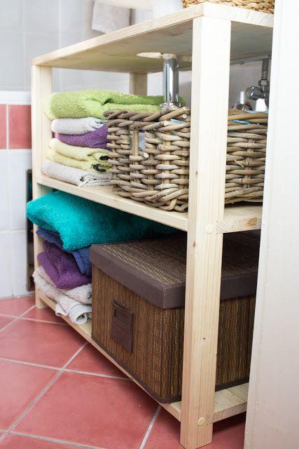 DIY Waschbeckenregal für das Badezimmer bauen Badezimmer bauen - badezimmer selber bauen