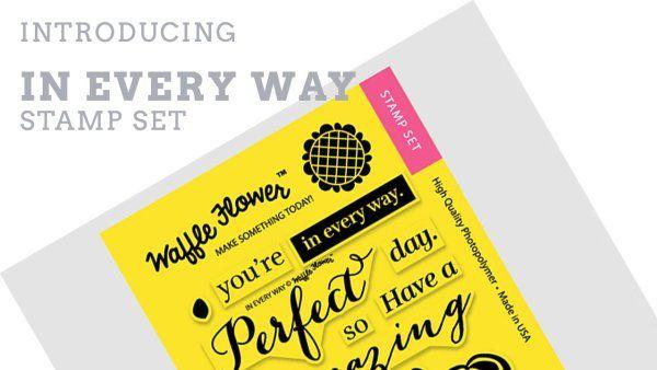 Waffle Flower Crafts 271023 In Every Way Stamp Set Craft Videos Flower Crafts
