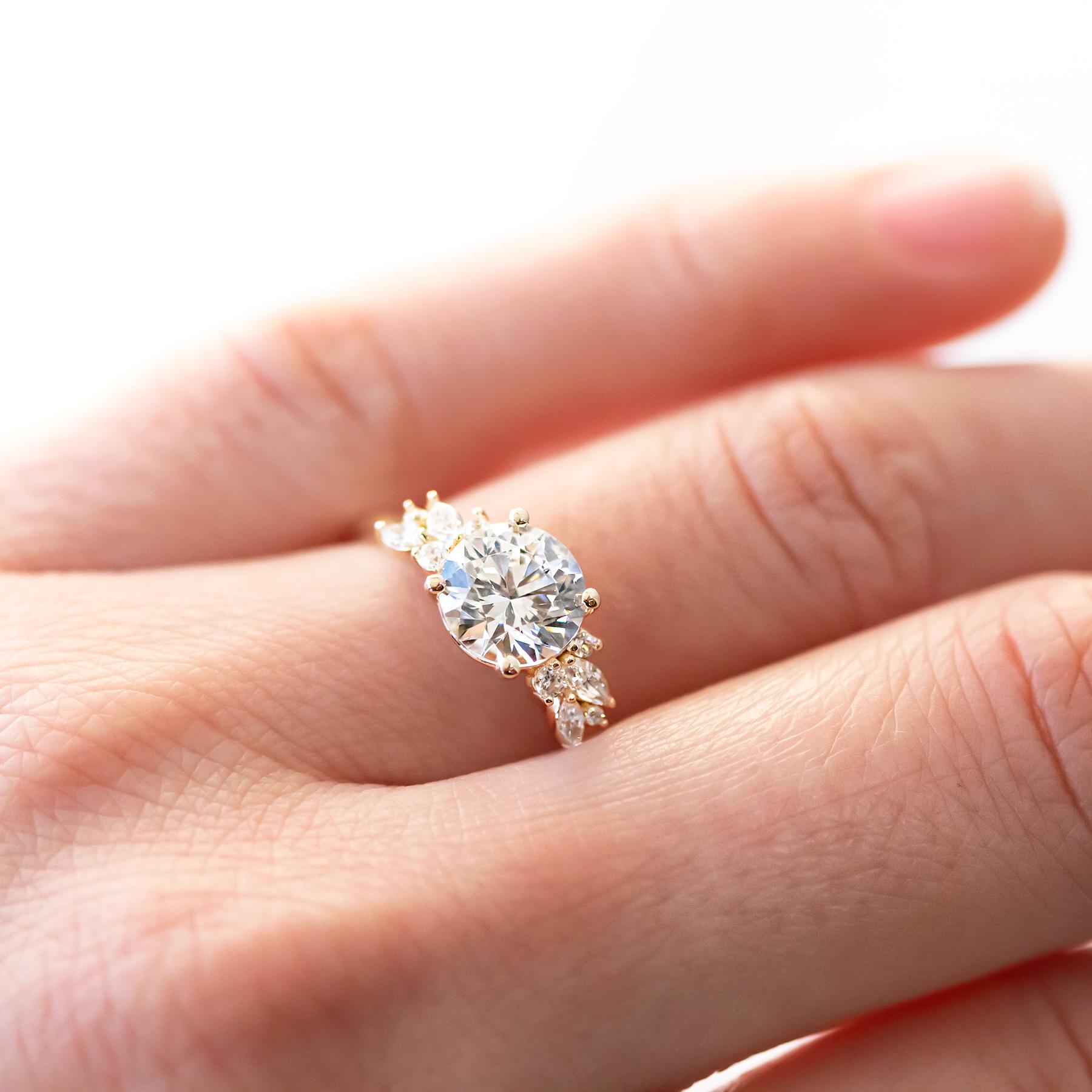 18k White Gold Luxe Celtic Love Knot Diamond Ring Morganite Engagement Ring Rose Gold Antique Halo Engagement Rings Engagement Rings Vintage Halo
