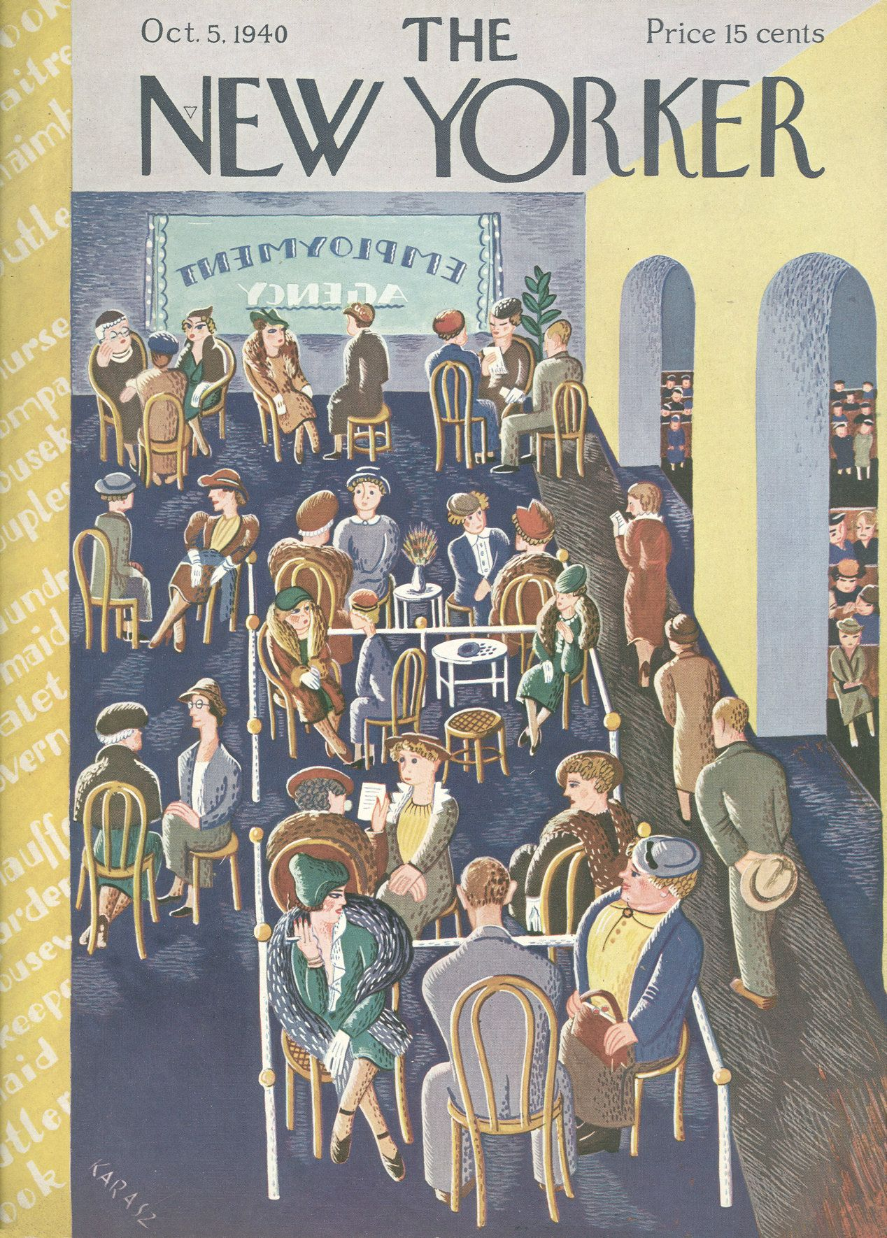 The New Yorker - Saturday, October 5, 1940 - Issue # 816 - Vol. 16 - N° 34 - Cover by : Ilonka Karasz
