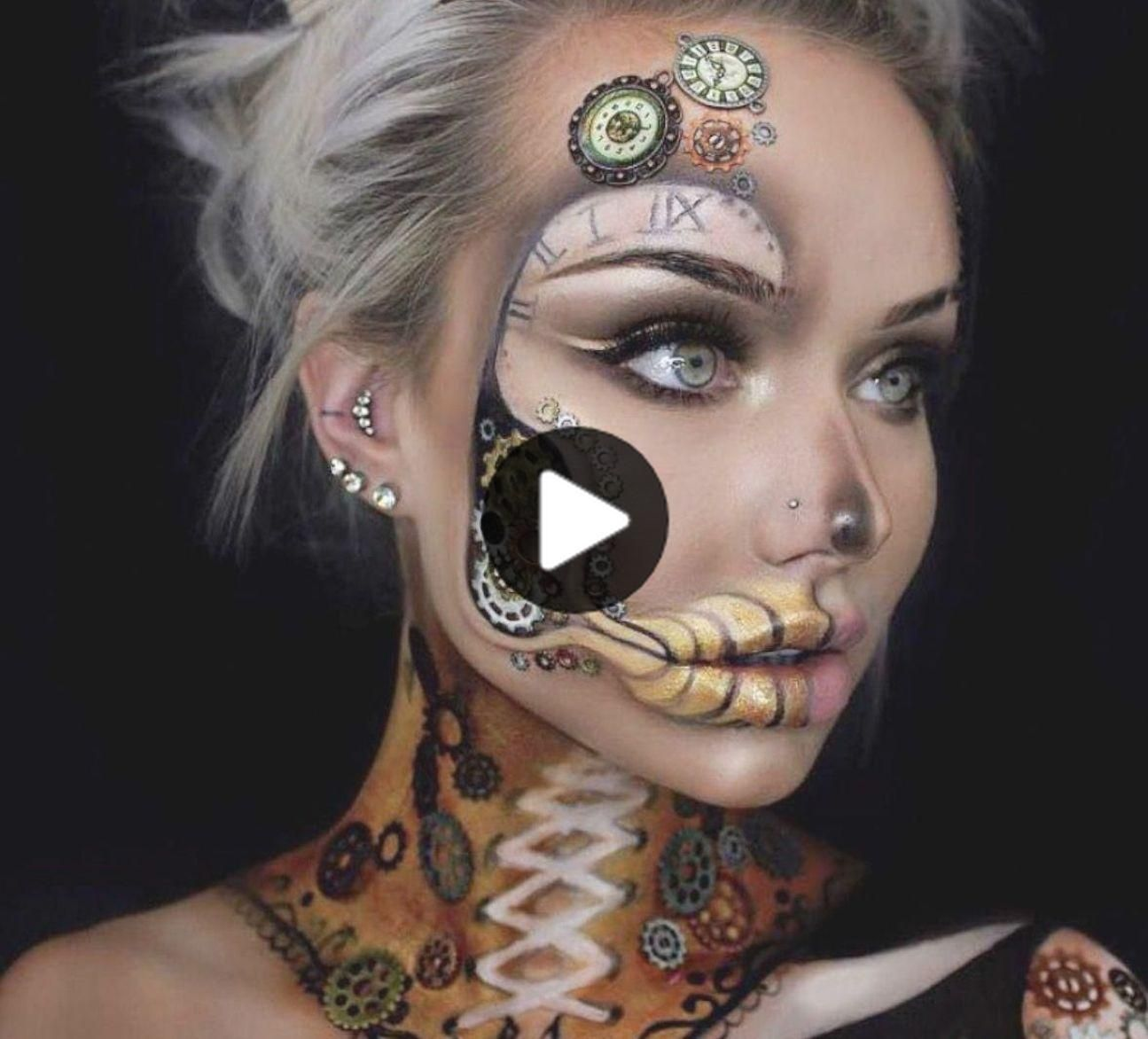 41 Most Jaw-Dropping Halloween Makeup Ideas That Are Still Pretty: Awesome Halloween Makeup – Click