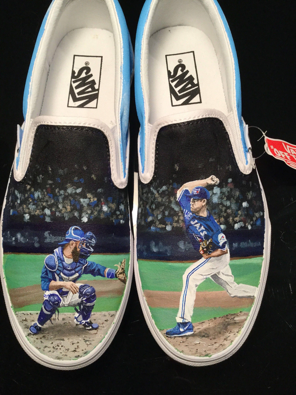 low priced bb06b 01322 Baseball memorabilia Toronto Blue Jays Hand Painted Custom Vans available  in my etsy shop