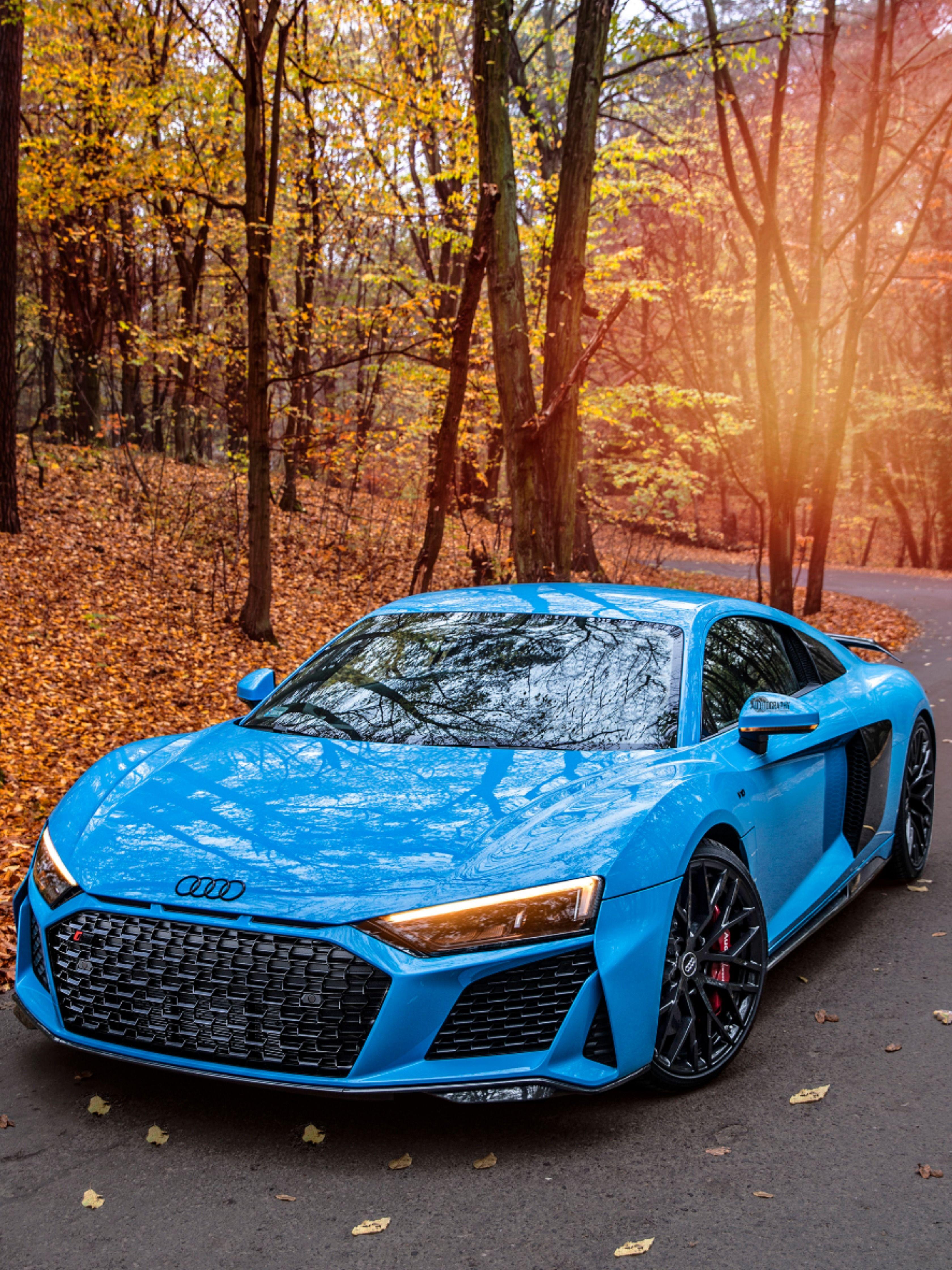 Audi R8 Coupe V10 Performance Quattro Covered In Blue Audi R8 Audi Audi Cars