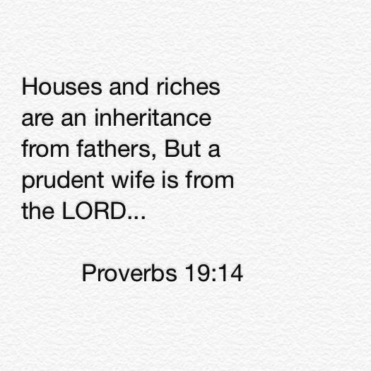 Proverbs 19:14