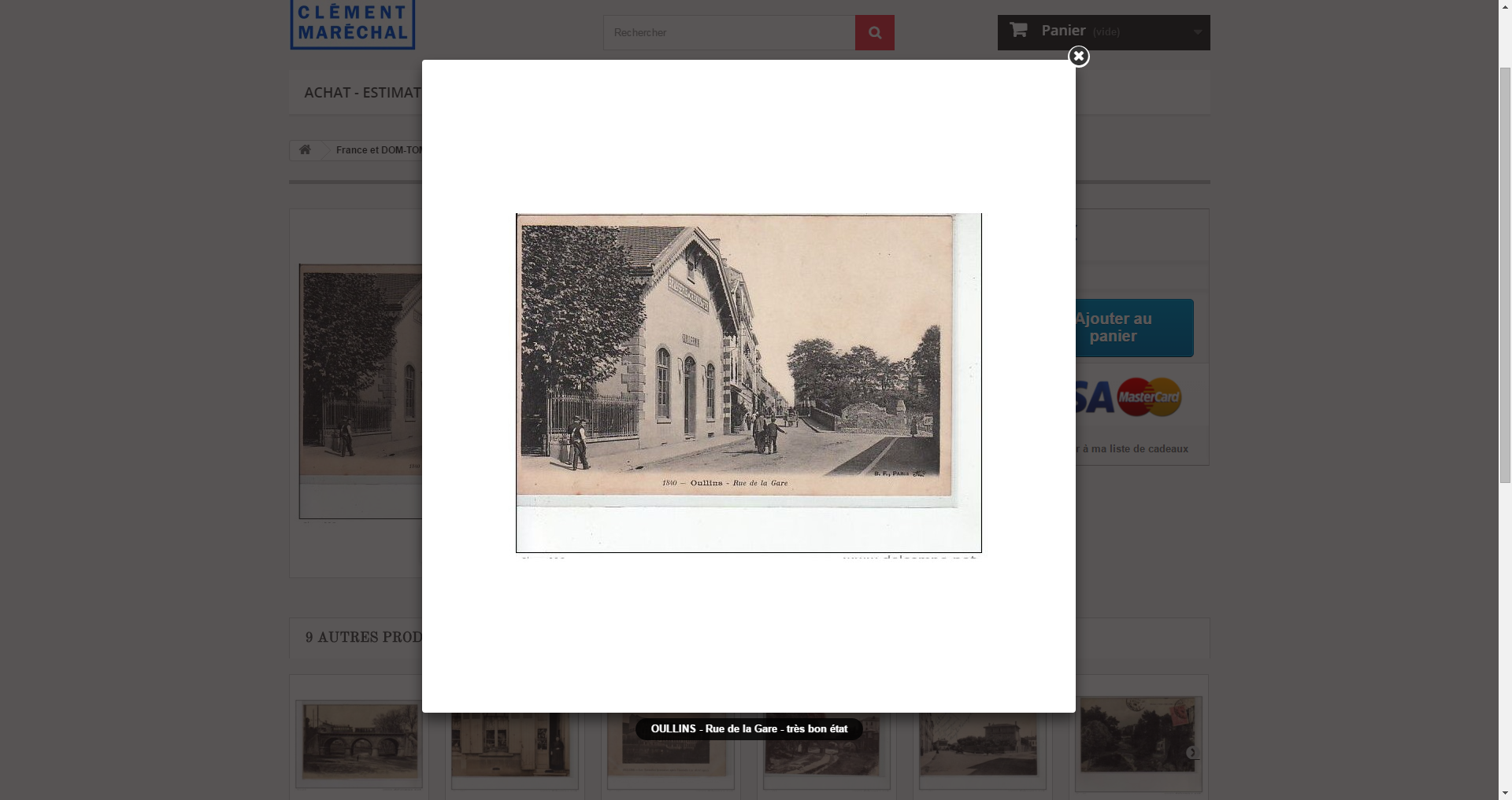 OULLINS - Rue de la Gare - très bon état   Cartes postales anciennes, Magasin en ligne et Rue