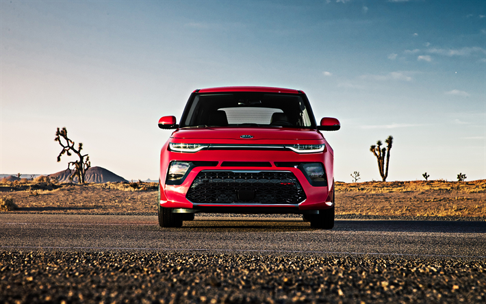 Download Wallpapers Kia Soul 2020 Front View Soul Gt Line Exterior New Red Soul Korean Cars Kia Besthqwallpapers Com Kia Soul Kia Best New Cars