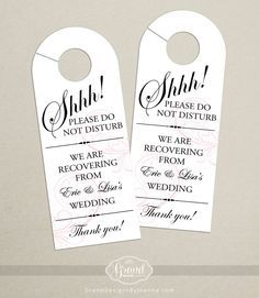 Wedding Door Hanger  What To Put In Wedding Welcome Bags  Http