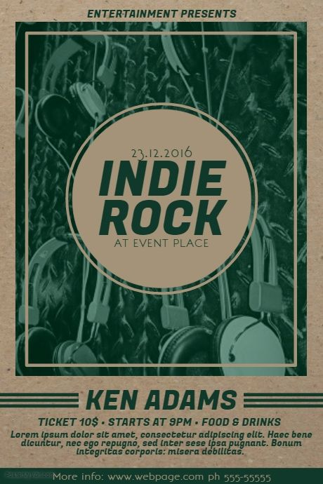 Old Indie Rock Music Flyer Template  Postermywall  Indie Music