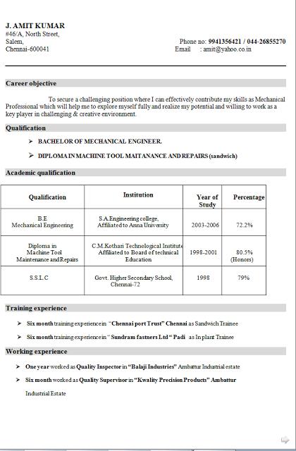 Curriculum Para Preencher E Imprimir Free Download Sample Template