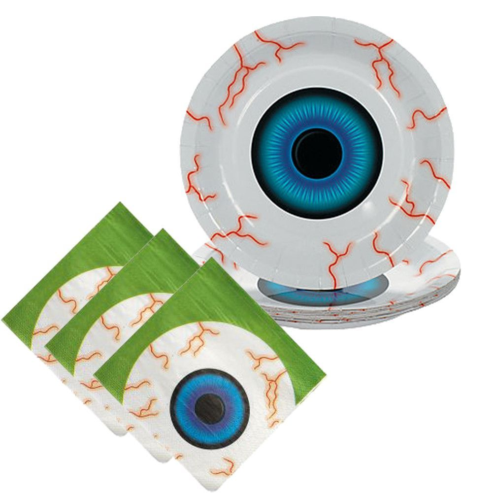 Scary Eyeball Party Tableware - 8 Guests | Party tableware, Scary ...