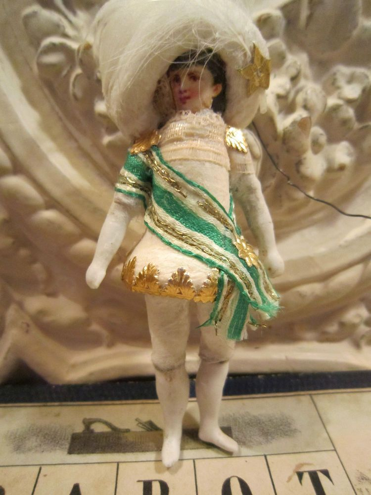 CBS Hänger Kleiner Prinz Spun Cotton Ornament Glocke Frankreich JDL Brocante