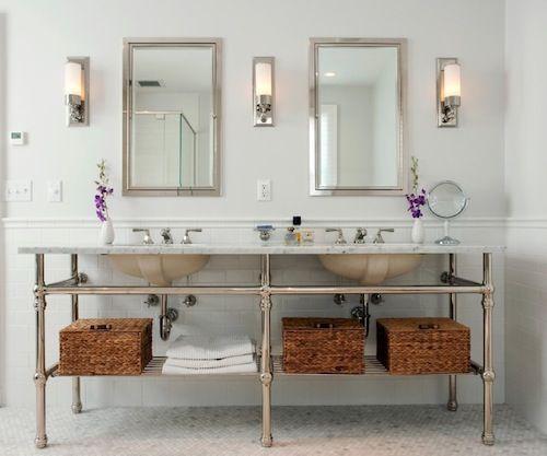 Creative Bathroom Vanities Ideas Retro Style Summer Cauliflower Au Gratin Recipe Double Vanity Bathroom Bathroom Sconces Stylish Bathroom