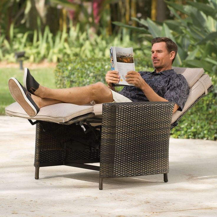 The Weatherproof Outdoor Recliner - Created exclusively for Hammacher Schlemmer,...,  #Create... #relaxingsummerporches