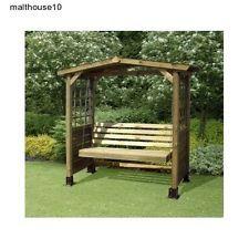 2 Seater Swing Seat Wooden Garden Arbour Gazebo Bench W/canopy u0026 Feet Fcsu2026  sc 1 st  Pinterest & 2 SEATER SWING SEAT WOODEN GARDEN ARBOUR GAZEBO BENCH w/CANOPY ...