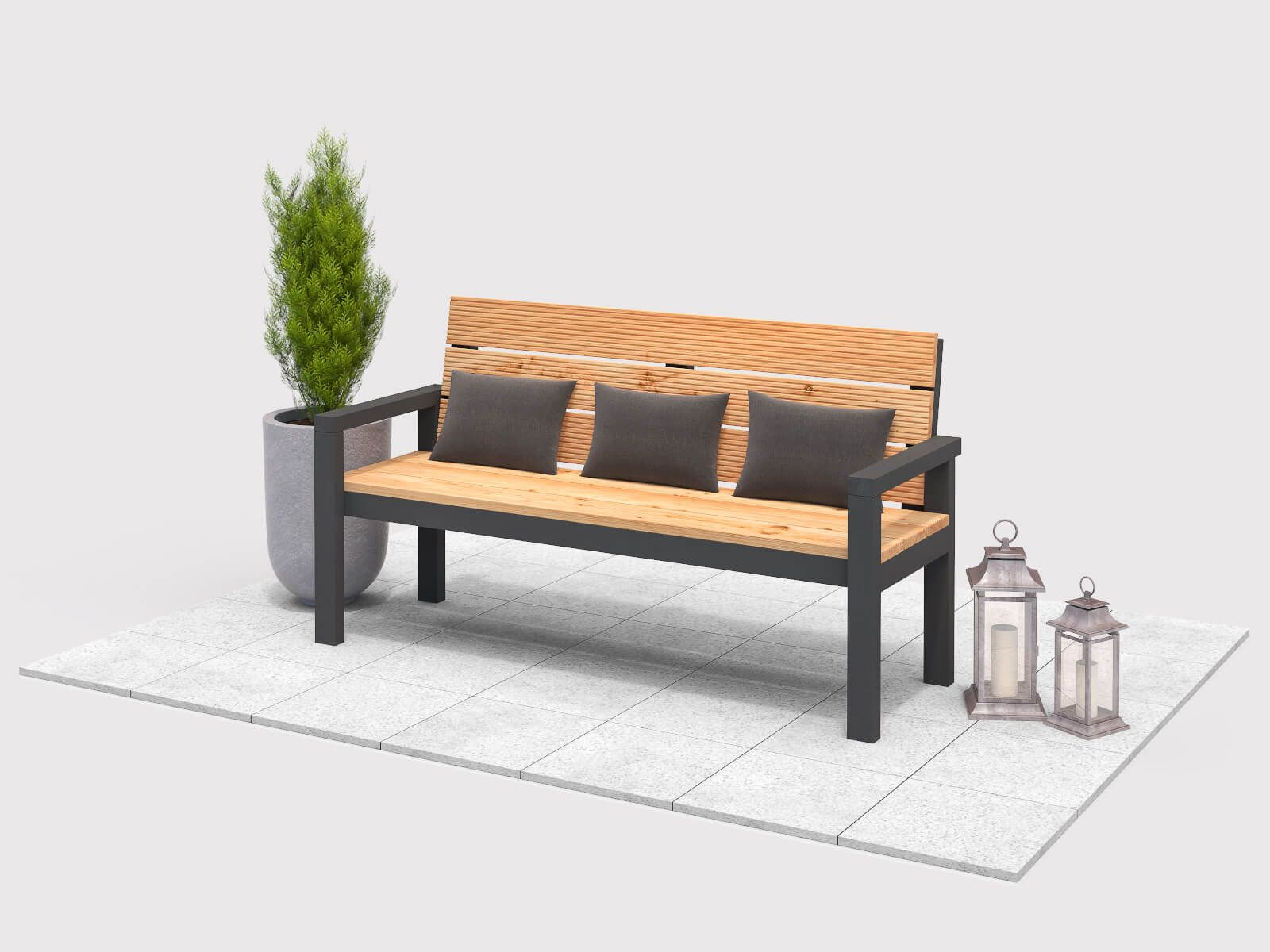 Gartenbank Georg Create By Obi Gartenbank Gartenbank Selber Bauen Gartenmobel Sets
