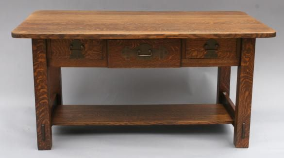 Sold Ls 3349 Large Stickley Brothers Arts Crafts Desk 2680 Craft Desk Furniture Stickley
