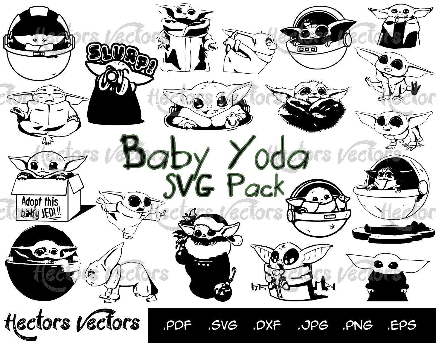 Baby Yoda Svg Baby Yoda Baby Yoda Vector Baby Yoda