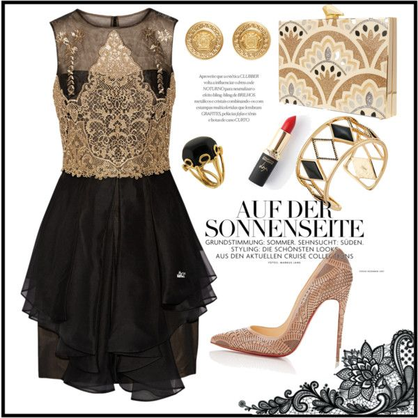 dress code: black and gold | Looks e Look